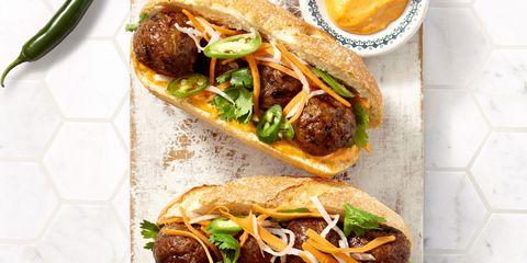 Food, Ingredient, Finger food, Dish, Cuisine, Fast food, Breakfast, Recipe, Serveware, Meat,