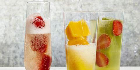Liquid, Drink, Glass, Alcoholic beverage, Ingredient, Tableware, Drinkware, Classic cocktail, Juice, Highball glass,