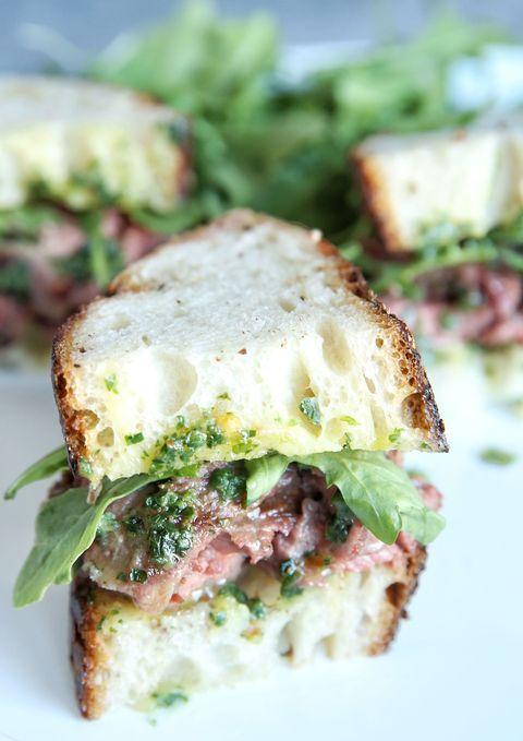 Cowboy Butter Skirt Steak Sandwiches Recipe