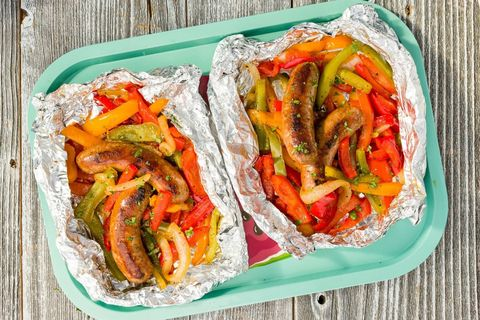 Sausage & Peppers Foil Pack Horizontal