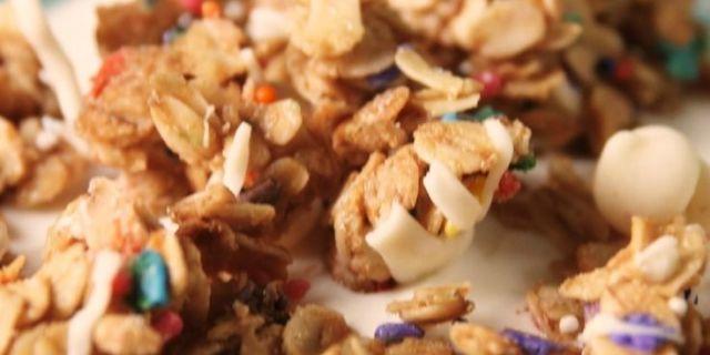Birthday Cake Granola Recipe Delish Com