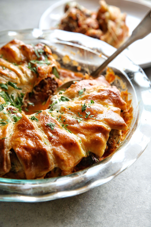 best turkey meatball pie recipe - delish