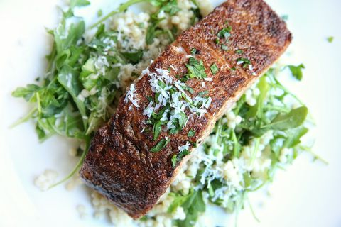 Jerk Salmon with Couscous Recipe