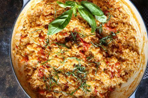 Cheesy Sun-Dried Tomato Risotto Recipe