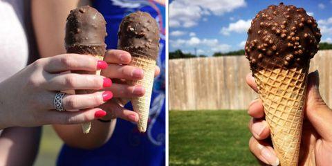 Drumstick ice cream cones