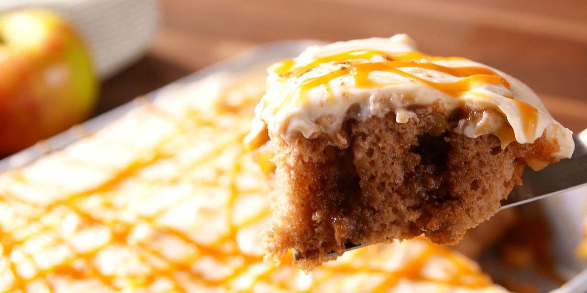 Apple Cake Keto Recipe: Cooking Caramel Apple Poke Cake Video