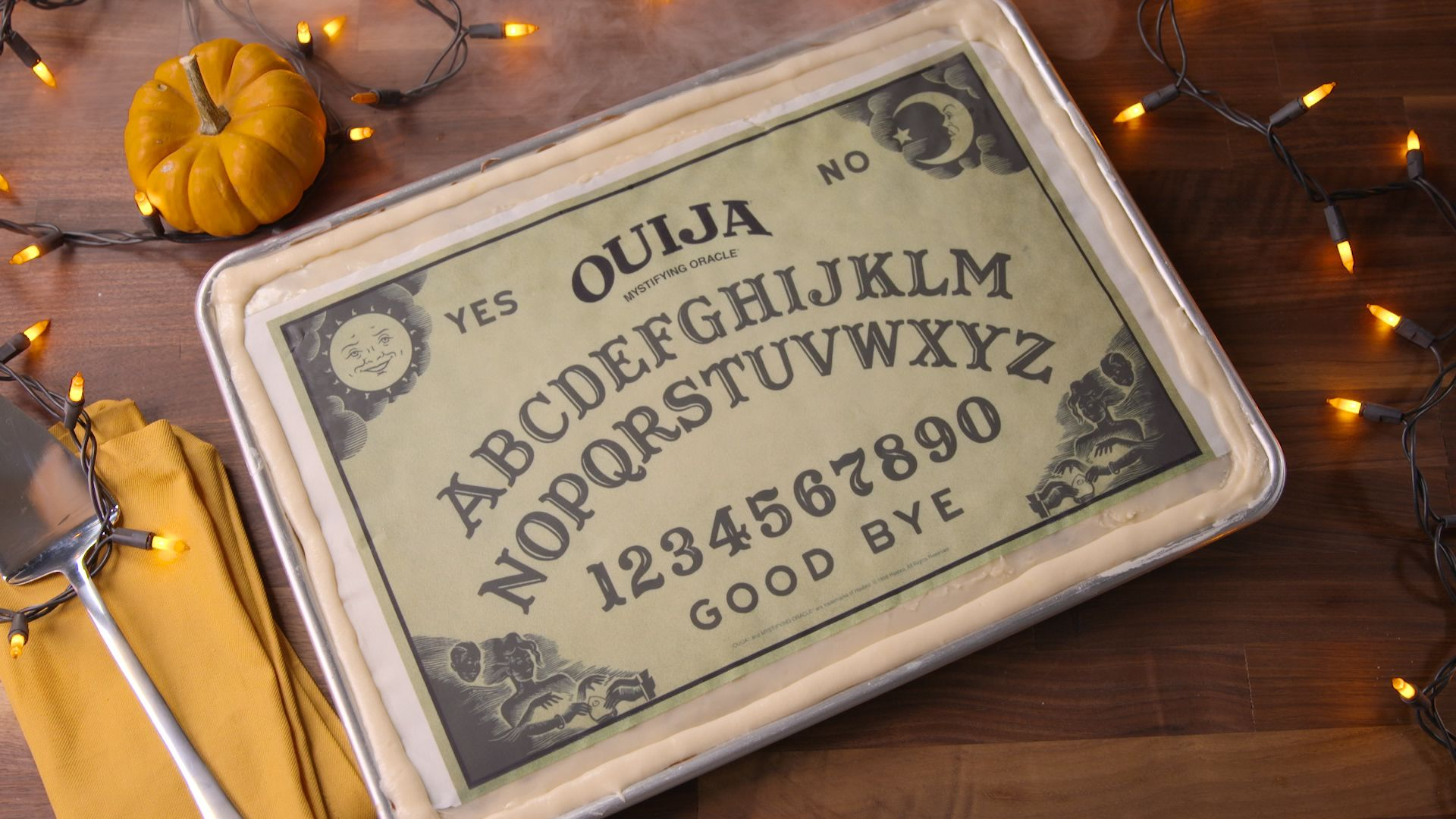 How To Make A Ouija Board Cake