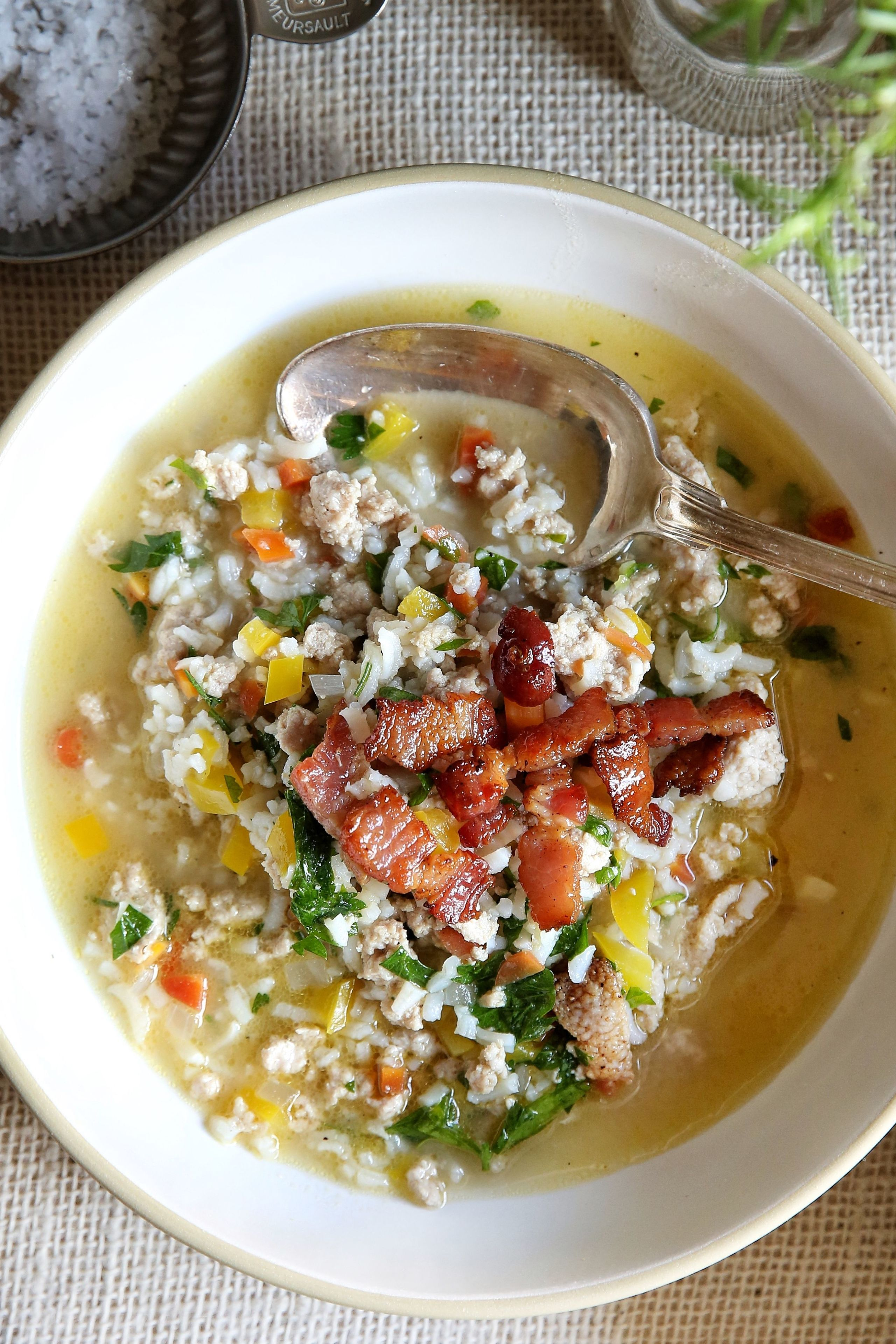 Leftover Turkey & Rice Soup