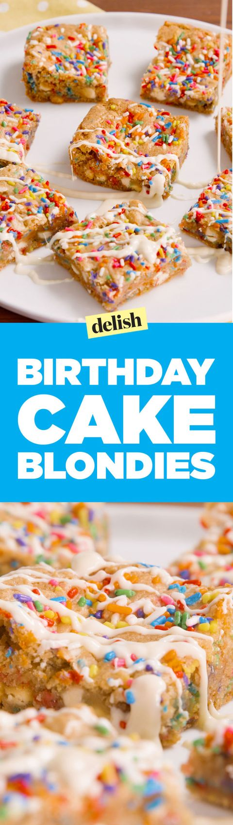 Prime Make Birthday Cake Blondies Best Birthday Cake Blondies Recipe Funny Birthday Cards Online Fluifree Goldxyz