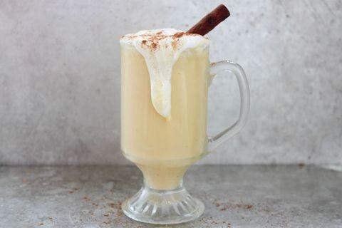 Pumpkin Spice Eggnog Hot Chocolate