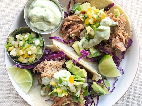 Pulled Pork Tacos with Avocado Crema Recipe