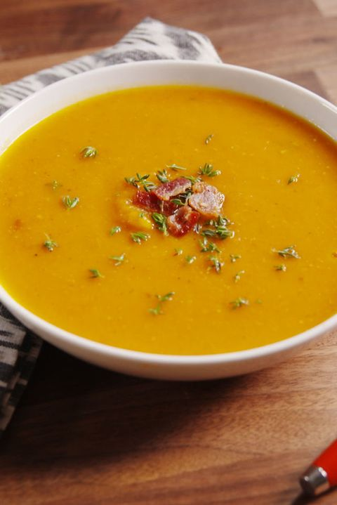 Bacon Butternut Squash Soup Vertical Beauty