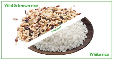 wild and brown rice instead of white rice