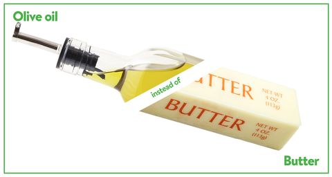 olive oil instead of butter