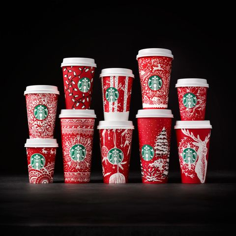 Starbucks red holiday cups 2016