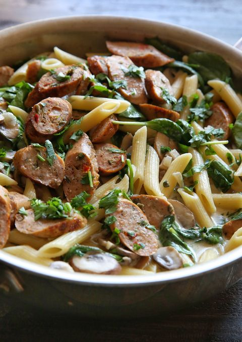 Chicken Sausage and Mushroom Penne Recipe