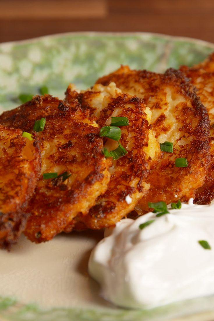 Best Loaded Fried Mashed Potato Cakes Recipe for Leftovers - Delish.com