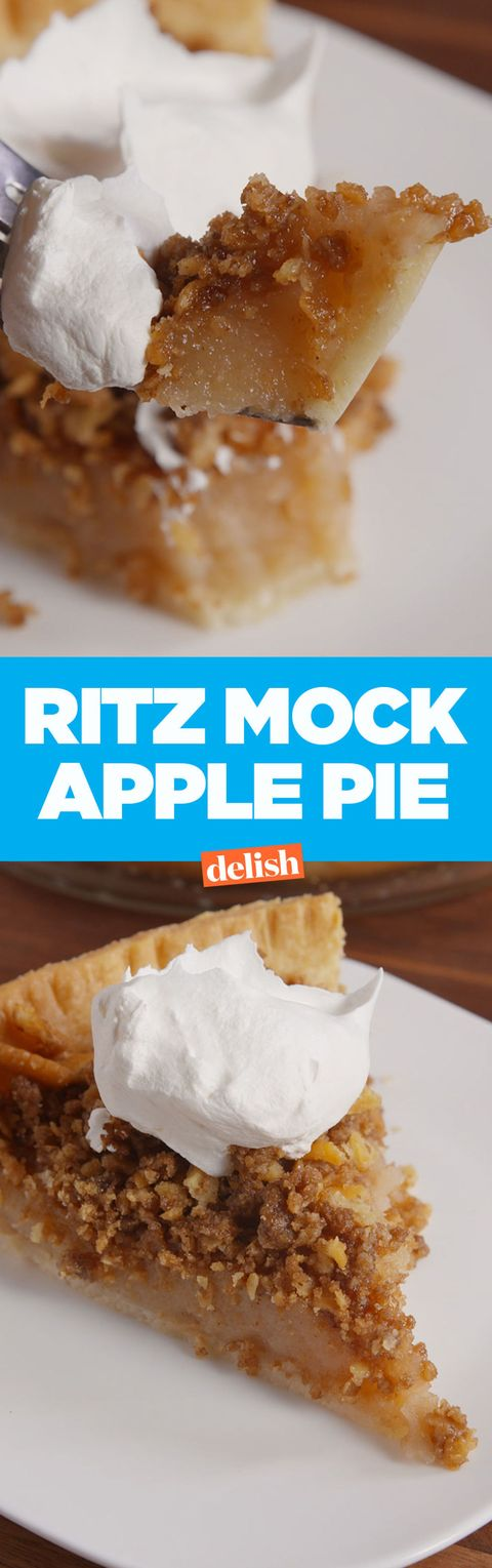 How To Make Ritz Mock Apple Pie Video Story Behind Ritz Apple Pie Delish Com