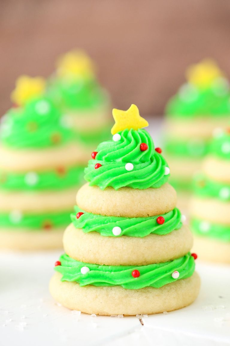 Best Christmas Tree Cookie Stacks-How To Make Christmas Tree Cookie ...
