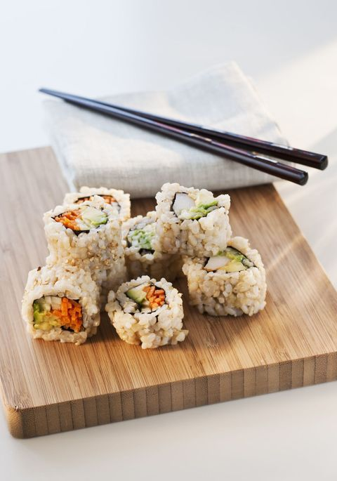 Cuisine, Food, Sushi, Rice, Ingredient, Dish, White rice, Recipe, Plate, Steamed rice,