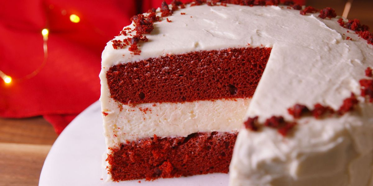 Red Velvet Cake With Sour Cream In Mix