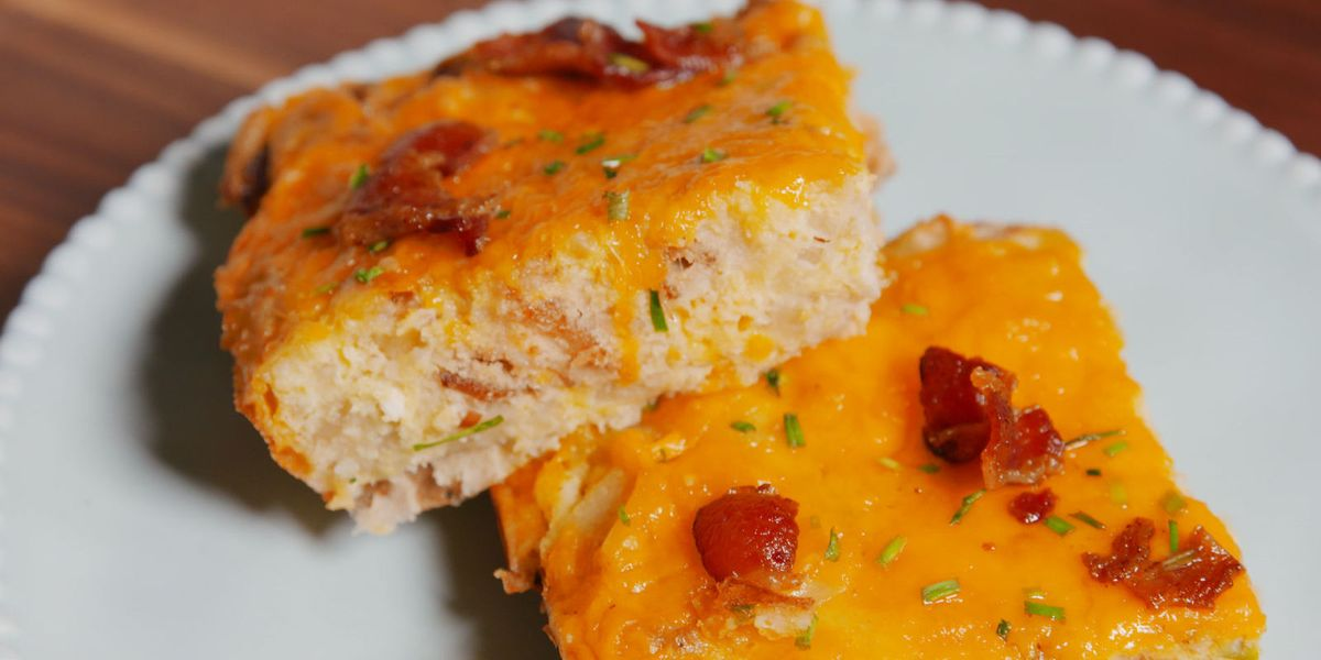 Easy Cheesy Hashbrown Casserole Recipe Hash Brown And Egg Breakfast Casserole Delish Com