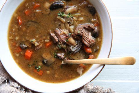 Slow Cooker Beef & Barley Soup Recipe