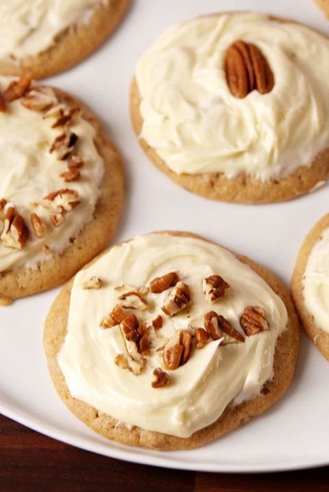 "<p>Buttery cookies smothered with a maple frosting = HEAVEN.</p><p>Get the recipe from <a href=""http://www.delish.com/cooking/recipe-ideas/recipes/a50804/butter-pecan-cookies-recipe/"" target=""_blank"" data-tracking-id=""recirc-text-link"">Delish</a>.</p>"