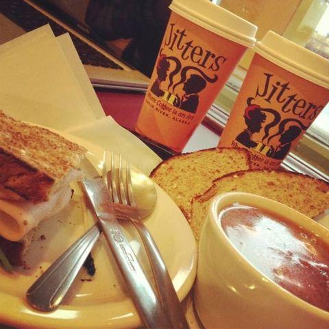 Food, Coffee, Drink, Cuisine, White coffee, Dish, Ingredient, Comfort food, Café au lait, Breakfast,