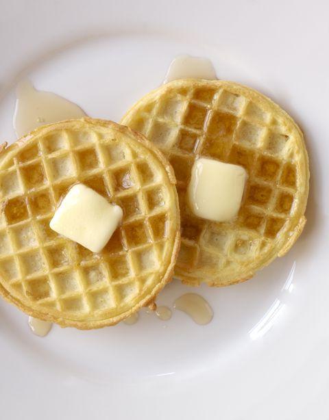 Dish, Food, Waffle, Belgian waffle, Breakfast, Wafer, Cuisine, Meal, Ingredient, Snack,