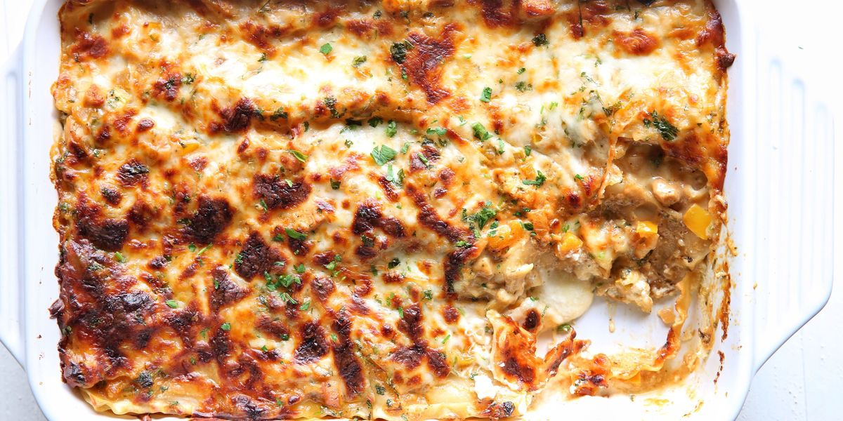 Best Cajun Chicken Lasagna Recipe How To Make Cajun Chicken Lasagna Delish Com