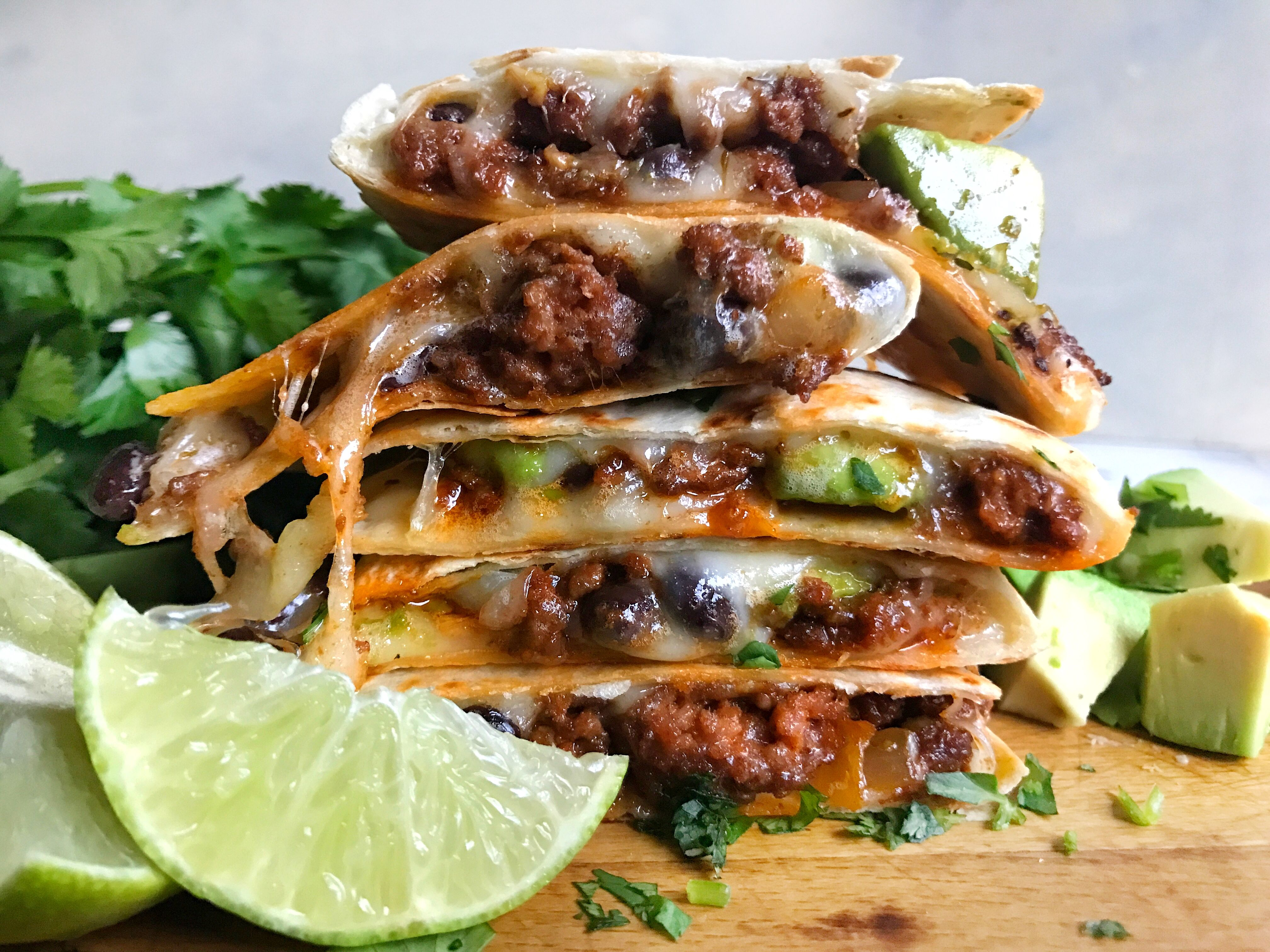 Best Cheesy Beef Quesadillas Recipe How To Make Cheesy Beef Quesadillas Delish Com