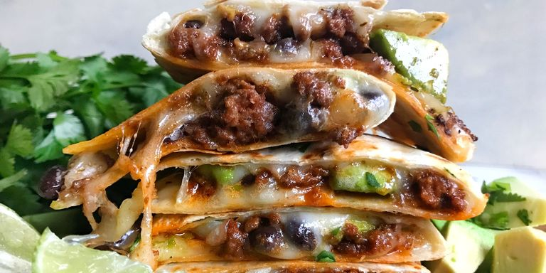 25 best mexican ground beef recipes how to cook ground beef mexican beef and avocado quesadillas horizontal forumfinder Images