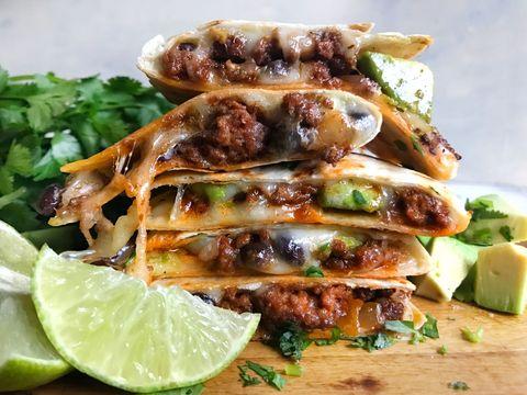 beef and avocado quesadillas horizontal