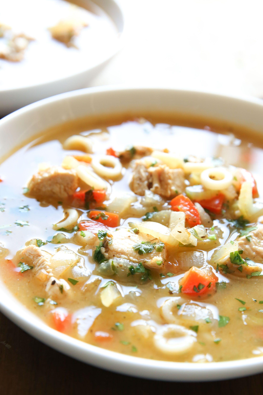 Cajun Chicken Noodle Soup Vertical