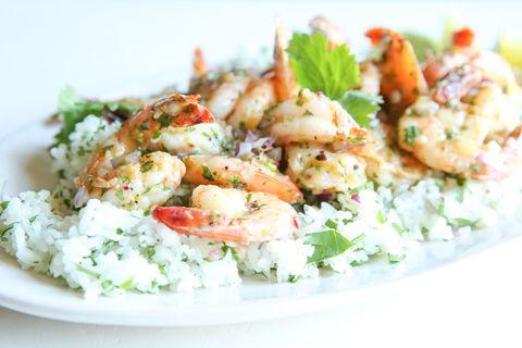 Salsa Verde Shrimp with Cilantro Rice Horizontal