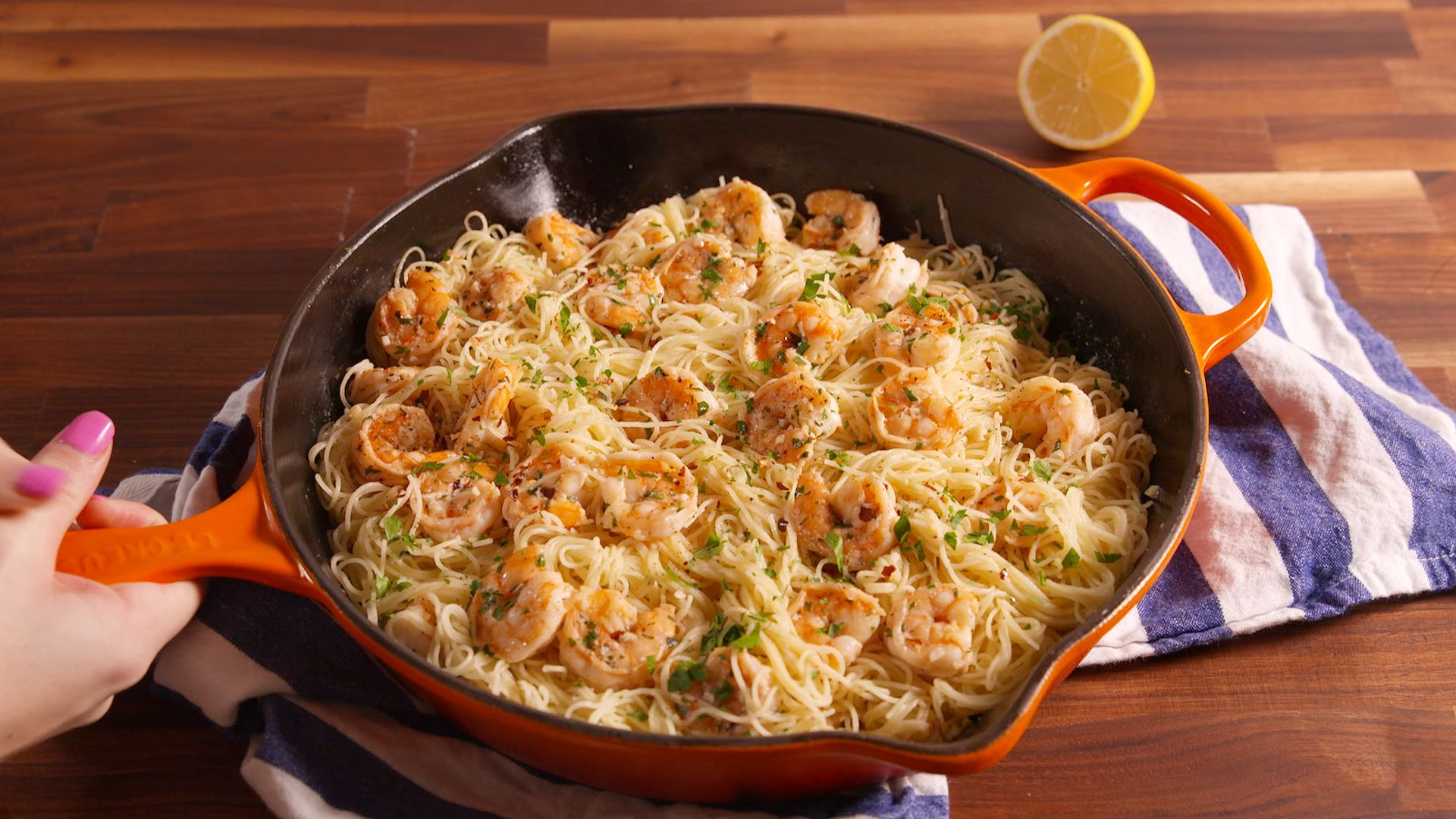 Best Garlic Butter Shrimp Pasta Recipe Easy Shrimp Dish With Angel