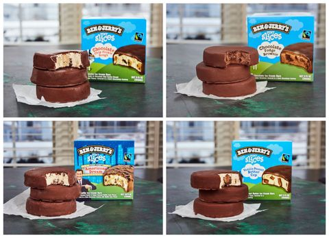 Ben Jerry S Is Releasing Pint Slice Ice Cream Bars Americone dream, chocolate chip cookie dough, chocolate fudge brownie, and vanilla peanut butter cup. pint slice ice cream bars