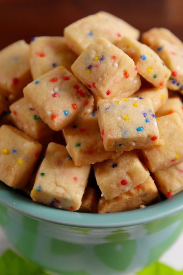 Funfetti Shortbread Bites Are The Cutest Cookies You'll Ever Make