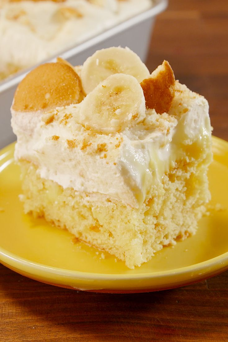 Best Banana Pudding Poke Cake How To Make Banana Pudding Poke Cake