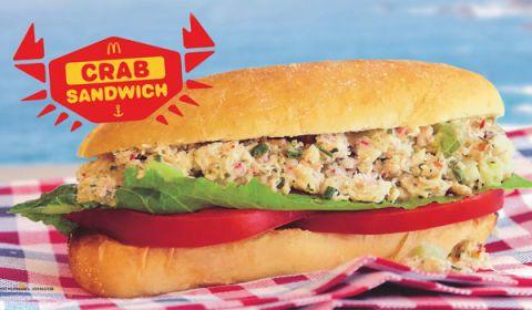 McDonald's crab sandwich