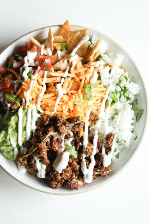 Best Loaded Burrito Bowls Recipe How To Make Loaded Burrito Bowls Delish Com