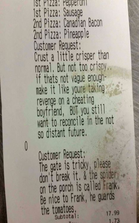 These Are 20 Of the Funniest Delivery Requests Of All Time