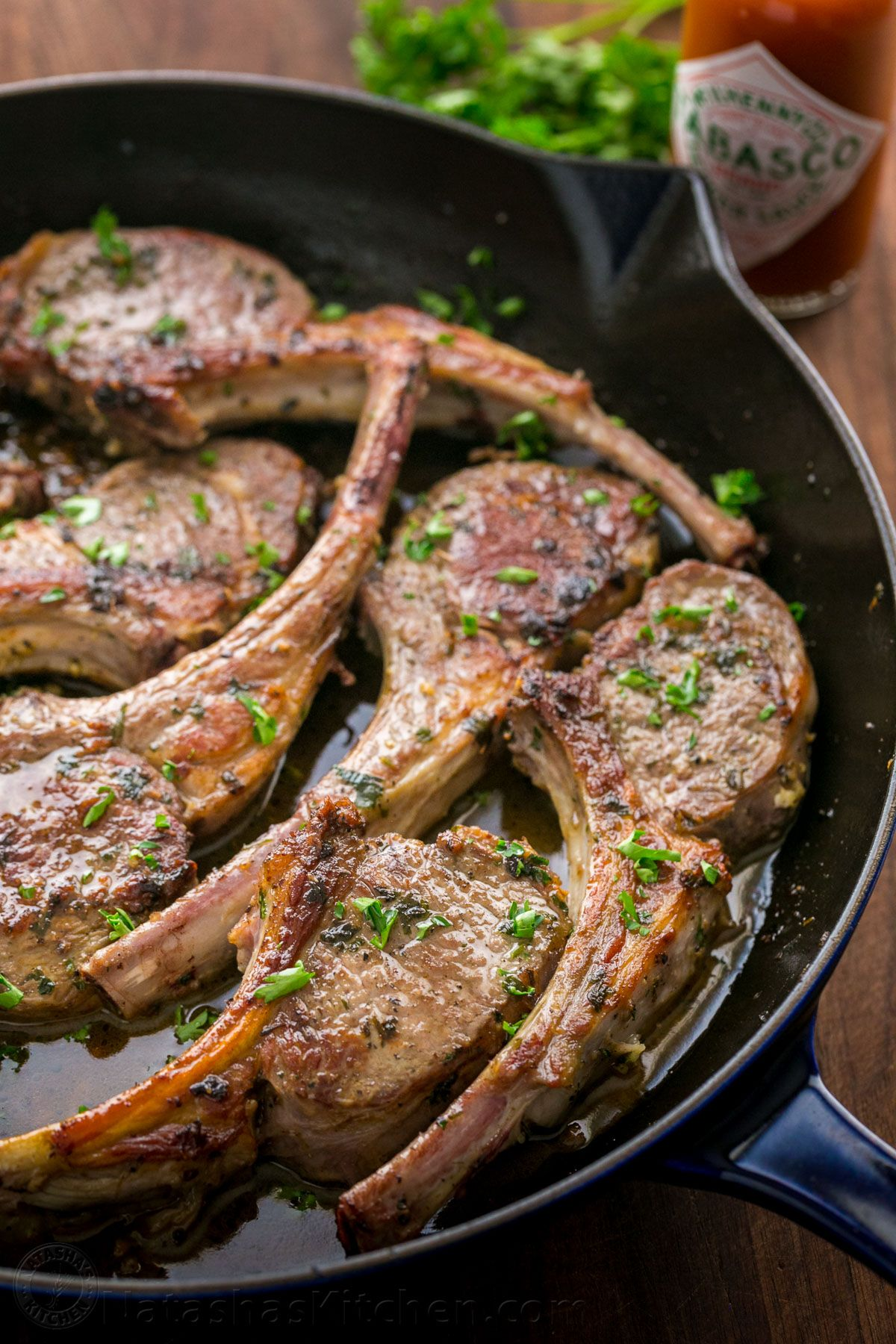 How to make lamb chops with roasted vegetables