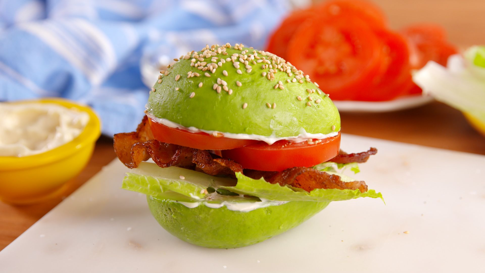 best avocado bun blt recipe how to make avocado bun blt