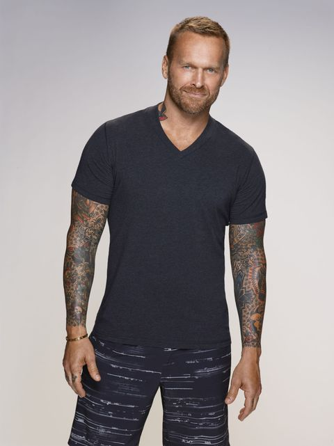 Arm, Human body, Sleeve, Shoulder, Elbow, Standing, Hand, Joint, Chest, Beard,