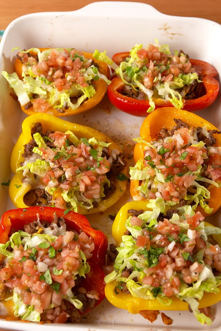 best taco stuffed peppers how to make taco stuffed peppers