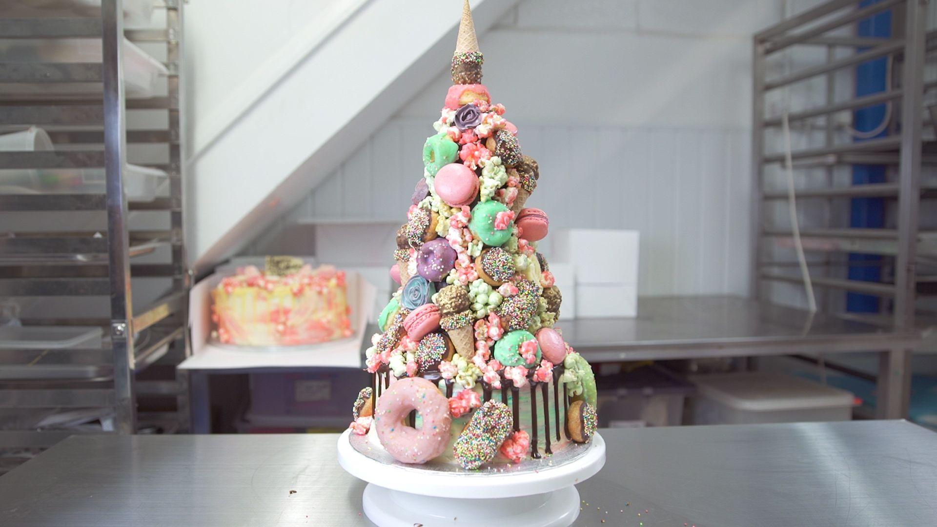 Unicorn Croquembouche Cake Video Insane Wedding Cake Video