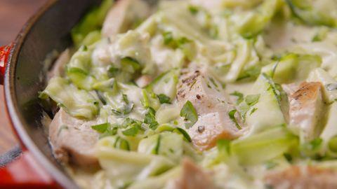 Chicken Zucchini Alfredo