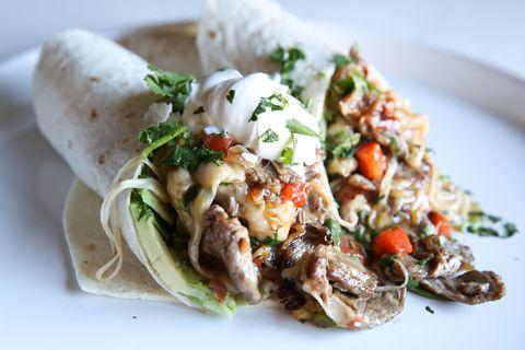 Cheesesteak Burrito Horizontal